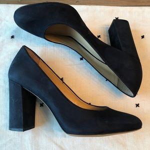 GB Navy Block Heel